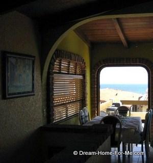 Las Chachalas 22 table and window, Las Gaviotas, Rosarito Beach