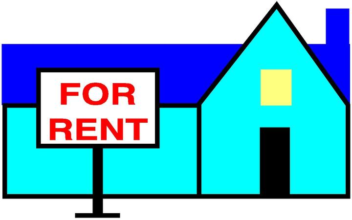 For Rent Blue House Cartoon