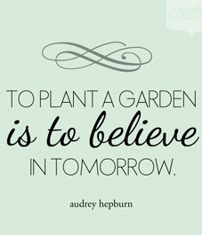 Garden Quote, Audrey Hepburn Quote